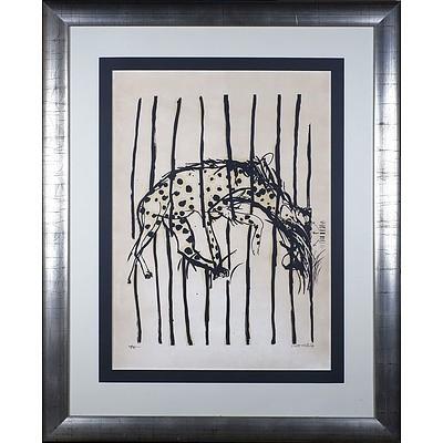 Brett Whiteley (1939-1992) Hyena from the Regent Street Zoo, Colour Screenprint Edition 39/70
