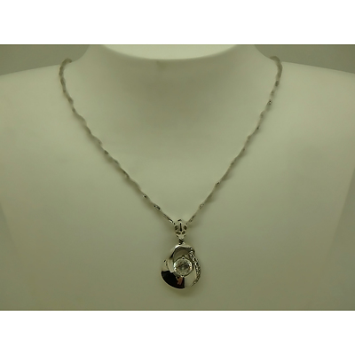 18ct White Gold Necklace And Pendant