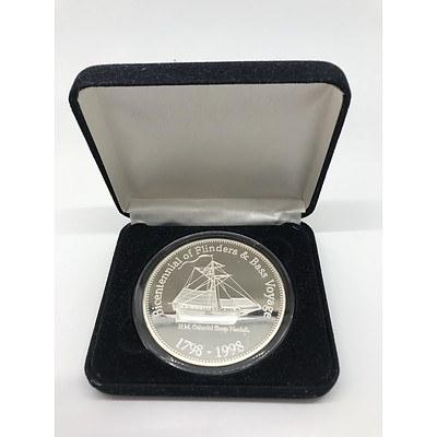 1998 Australian Bicentennial Bass & Flinders Medallion 5oz Silver Proof Set
