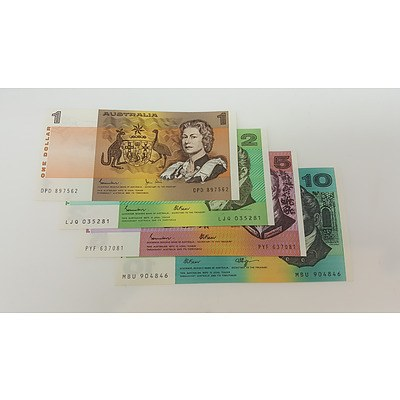Collection of Assorted Australian Uncirculated Paper Banknotes