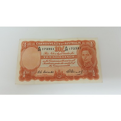 1949 Commonwealth of Australia 10 Shilling Banknote