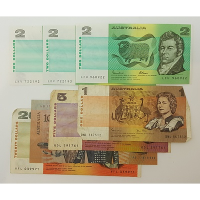 Collection of Assorted Australian Paper Banknotes