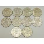 Ten Australian 1966 Round Fifty Cent Pieces