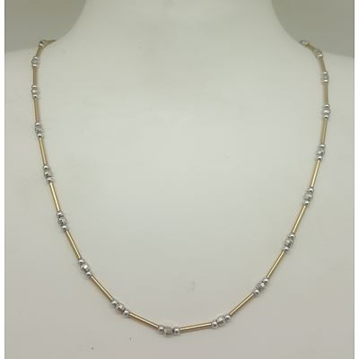 14ct Yellow and White Gold Necklace