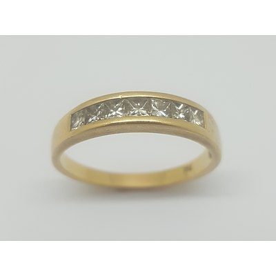 18ct Yellow Gold and 7 Diamond Ring