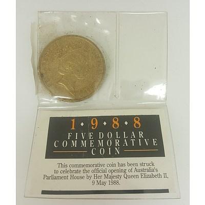 1988 Five Dollar Commemorative Coin