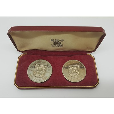 Two 1996 Silver Five Shilling Coins
