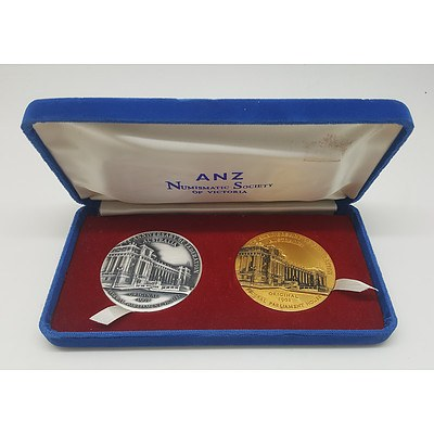ANZ And Numismatic Society of Victoria Commemorative Medals