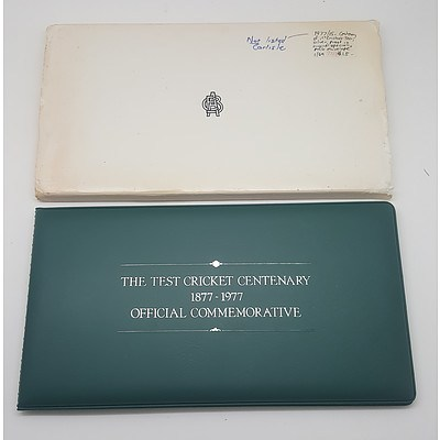 1977 Test Cricket Commemorative Proof Coin