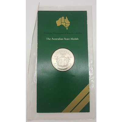 1976 Commemorative Sterling Silver Proof Coin - Queensland