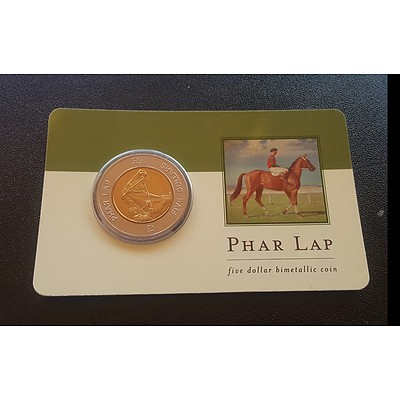 2000 Phar Lap Five Dollar Coin