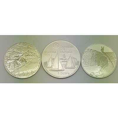 Three Sterling Silver Commemorative Coins