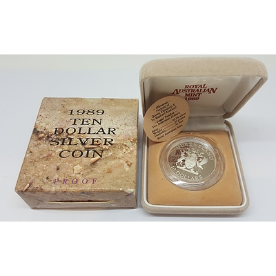 Sterling Silver Australian State Series $10 Proof Coin