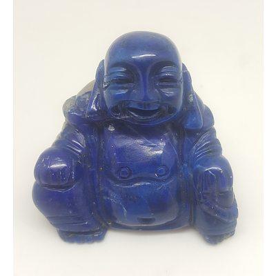 Solid Hand Carved Lapis Lazuli Buddha Statue