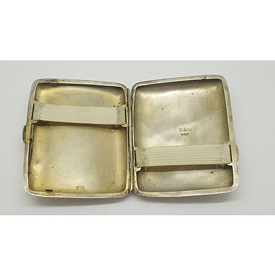 Sterling Silver Cigarette Case E. J. Trivet & Sons Chester 1917