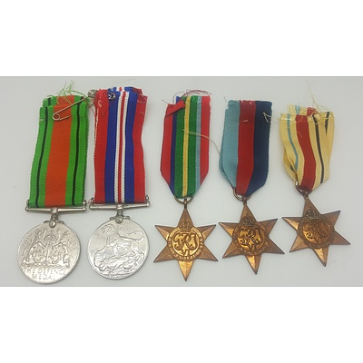 Five WW2 Medals
