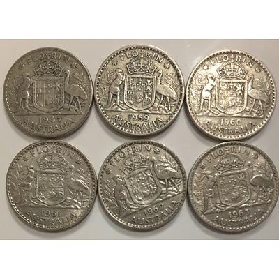 Assorted Australian Predecimal Silver Coinage