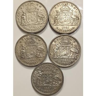 Assorted Australian Pre-decimal Silver Coinage