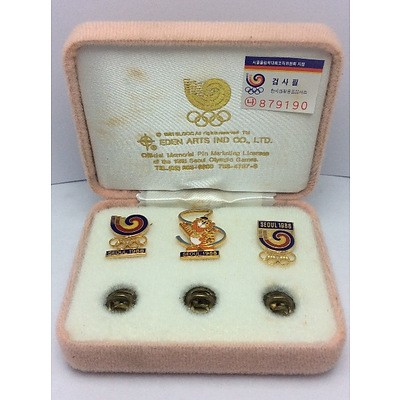 Commemorative 1988 Olympic Pins