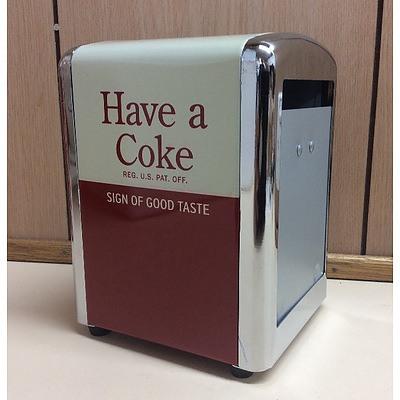 Coca-Cola Collectable Napkin dispenser