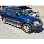 12/1999 Honda Crv (4x4)  4d Wagon Blue 2.0L