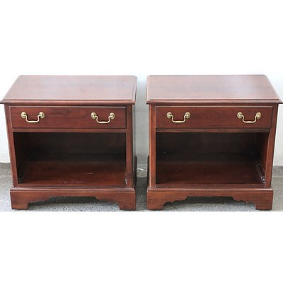 Drexel Heritage Timber Bedside Tables - Lot of Two