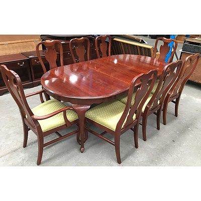 Drexel Heritage Furniture Nine Piece Dining Setting