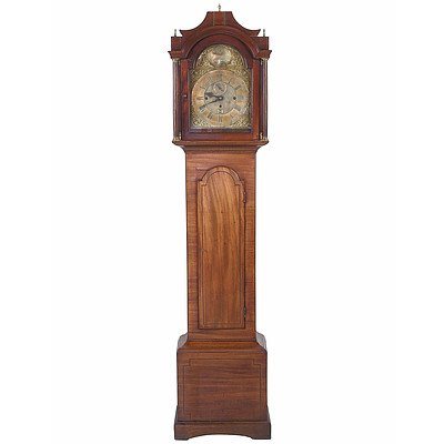 Fine George III Mahogany Cased Musical Longcase Clock Striking on Eight Bells with Subsidiary Seconds and Calendar Aperture by Thomas Page Norwich Circa 1760