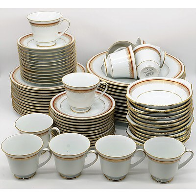 Noritake Doral Maroon Dinner Set for 12