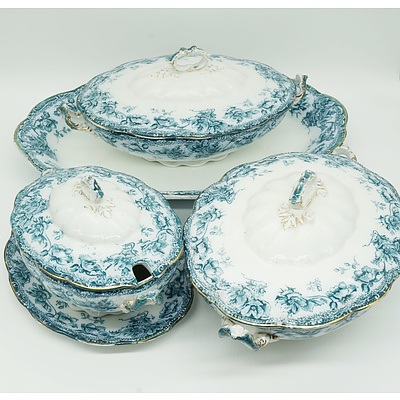 Three Antique Wedgwood and Col Sibyl Semi Porcelain Tureens