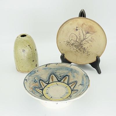 Group of Studio Pottery, Including Kirbys Flat Pottery Yackandandah