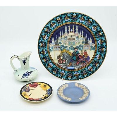 Villeroy and Boch The Firebird, Delft Jug, Wedgwood dish and Royal Doulton Dish