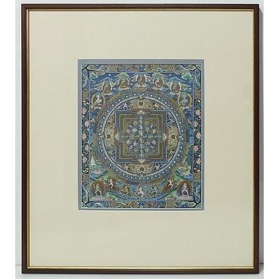 Framed Buddhist Thangka