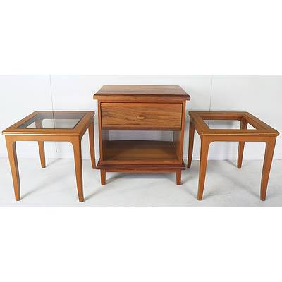 Pair Chiswell Side Tables, Bedside Table and Map of Australia Offset Print
