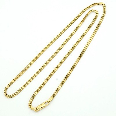 18ct Yellow Gold Filed Curb Link Chain, 11.8g
