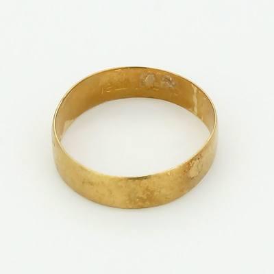 18ct Yellow Gold Gentlemans Wedding Ring