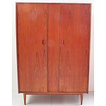Two Retro 1960s Henry Roberts Teak Wardrobes