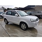 9/2007 Hyundai Tucson CITY SX MY07 4d Wagon White 2.0L