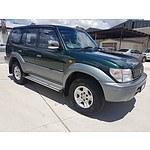 9/1997 Toyota Landcruiser Prado Grande VX (4x4) VZJ95R 4d Wagon Green / Silver 3.4L