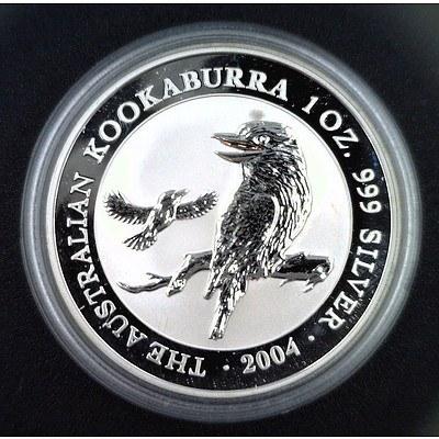 Australia 999 PURE Silver PROOF Kookaburra Coin 2004