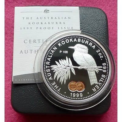 Australia 999 PURE Silver PROOF Two Ounce Coin 1999