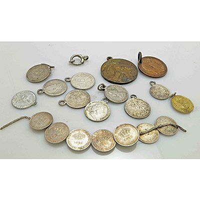 Collection of Coins & Medal Jewellery