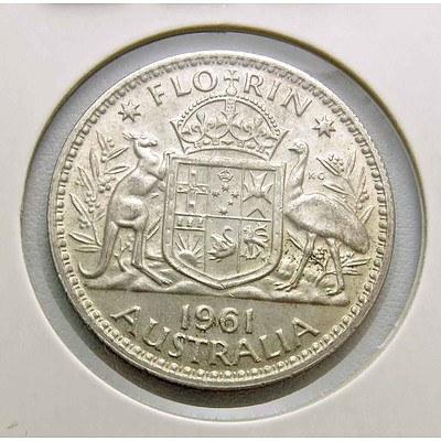 Australia Silver Florin 1961
