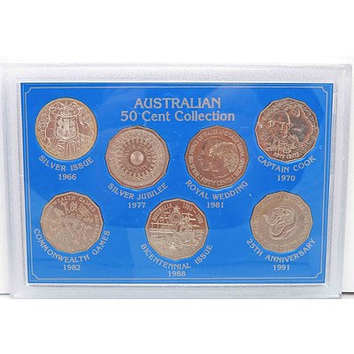 Australia 50 Cent Coin Collection-cased