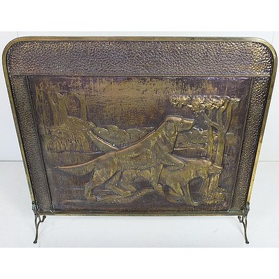 Hunting Dogs Themed Fire Screen