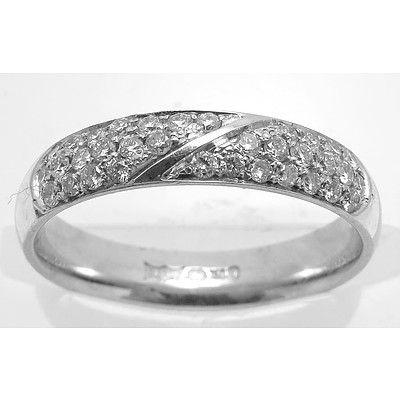 18ct White Gold Diamond pave-set Ring