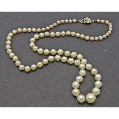 Vintage Pearl Necklace - Graduated