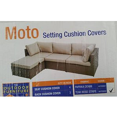 Moto Setting  Cushion Covers - Lot of 2 - Brand New In Box