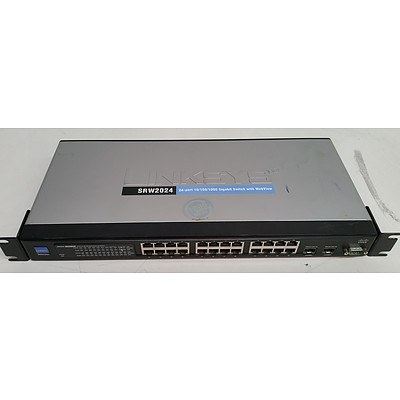 Cisco Linksys SRW2024 Business Series 24-Port Gigabit Managed Switch w/ Webview