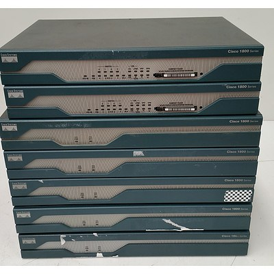 Cisco 1800 Series Integrated Services Routers - Lot of Seven